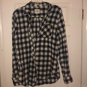 American Eagle Checkered Button Up